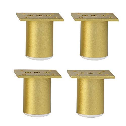 BCX Metall Möbelbeine, verstellbar, Badezimmerschrank Fuß Gold Möbel Unterstützung Spalte Tv Kabinett Füße 6Cm-30Cm, geeignet für Couchtisch, Stuhl, Hocker, Sessel, Schrank, Frisiertisch, Sidebo,6cm