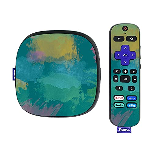 MightySkins Skin Compatible with Roku Ultra HDR 4K Streaming Media Player (2020) - Watercolor Blue | Protective, Durable, and Unique Vinyl Decal wrap Cover | Easy to Apply and Change Styles | Made in