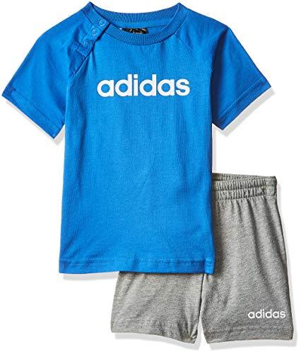 adidas Jungen Linear Sommer-Set, True Blue/White, 80