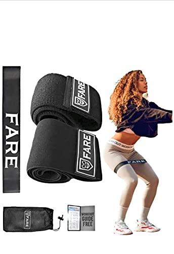FARE GROUP Bandas Elasticas Gluteos Mujer Hombre-Pack de 3 Cintas Fitness-Banda Algodon Poliester Latex -Antideslizantes-Entrenamiento en Casa Musculacion-Resistencia Baja Media y Alta
