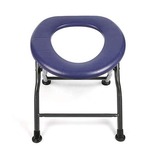 Toilettenstuhl, tragbarer Toilettensitz, Badhocker, geeignet für ältere Menschen, Schwangere und Patienten, belastbar, stabil, sicher für Camping