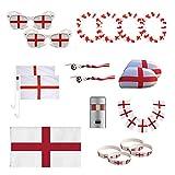 UMOI Juego de artículos para fans de Inglaterra del Campeonato de Europa 2021, miembro de seguidores públicos, para los olímpicos y fútbol
