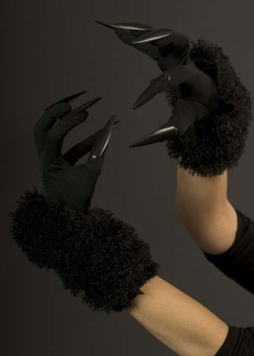 Struts Fancy Dress Dames de Long Gants Chat Noir