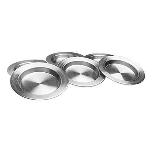 Künefe Tabagi 6 Stück GROß 24,5 cm Alu Teller Dessertteller Aluminium Innen Maß ca. 19 cm Türkische Traditionelle Teller