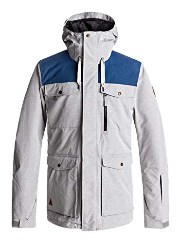 Quiksilver Raft - Snow Jacket for Men - Snow Jacke - Männer - L - Schwarz