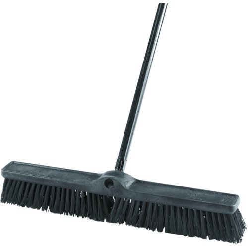 """Rubbermaid Commercial Executive Series Rough-Surface Heavy-Duty Sweep, Plastic Broom Head, 24"""", 1861212"""