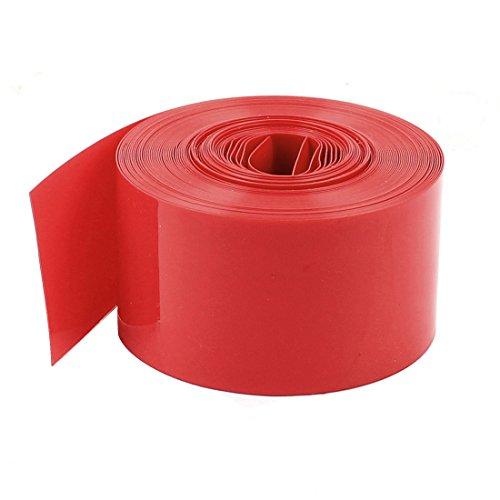 『uxcell Assisi PVC熱収縮チューブ 5Mロング 23mm レッド AA電池用 ラップスリーブシュリンク』のトップ画像