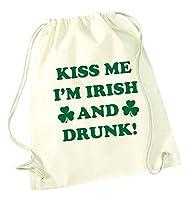 Sac à cordon Kiss me I'm Irish and drunk Personnalisation gratuite. Produits assortis disponibles. 46 cm x 37 cm, capacité de 12 litres. 100 % coton, sans doublure, idéal pour les sacs de gym et les sacs en polyéthylène. Vous voulez entrer en contact...