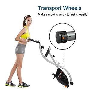ATIVAFIT Bicicleta Estática Plegable Magnética X-Bike Pulsómetro Y Pantalla LCD, Resistencia Variable, Pedales de Máximo Agarre, Adultos Unisex