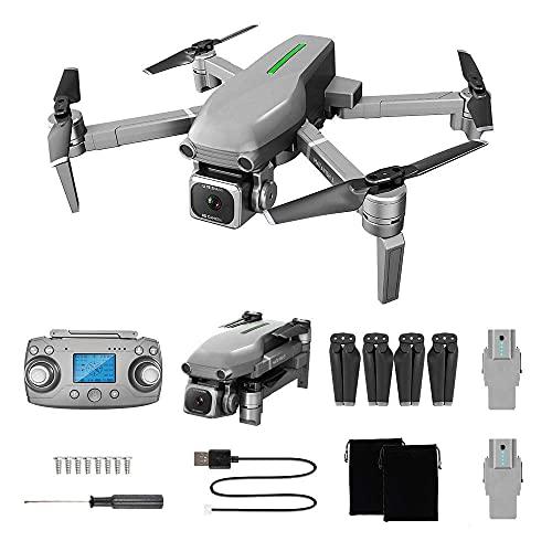 DCLINA Droni GPS con Fotocamera 4K e Zoom 50x, 5GHz WiFi FPV Live Video correzione Intelligente Anti-Vibrazione, Posizionamento del Flusso Ottico, 2 Minuti Batteria