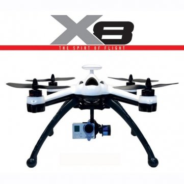 nsellSp New Flying 3D X8 6 Axis 2.4G 8CH GPS RC Quadcopter RTF & Mode = Mode 2