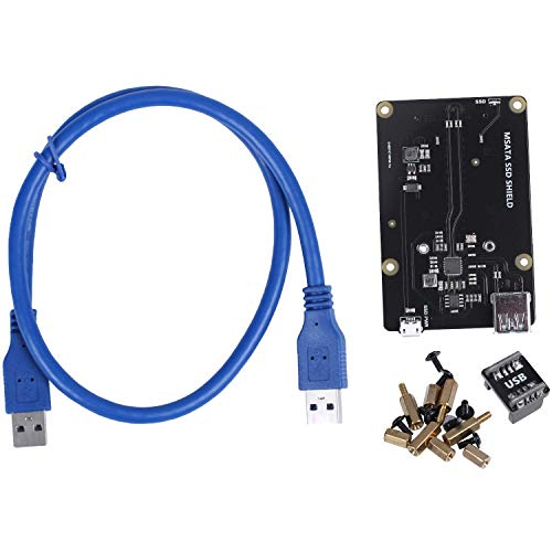 CAIJINJIN Módulo For la Frambuesa Pi 3 Modelo B + (Plus) / Expansión 3B Almacenamiento SSD mSATA Junta X850 V3.0 USB 3.0 Módulo Tarjeta de Expansión for Frambuesa Pi