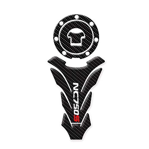 Motorrad Tank Aufkleber Motorrad-Zubehör 3D-Faser-Aufkleber-Sets Tank-Aufkleber-Schutz-Auflage-Set for Honda NC750S NC 750S NC700S 2014-2019 (Color : A)