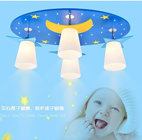 owow la, simple moderne chambre d'enfant Miracle Suspension LED Bar et coole cristal Télécommande Leuchten plafonniers pour fille ou garçon Salon Décoration Fantaisie, 76 * 23 cm