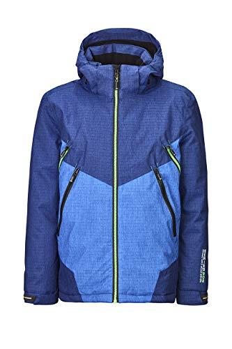 Killtec Jungen Talaro Colourblock Jr Skijacke/Funktionsjacke/Winterjacke Mit Abzippbarer Kapuze Und Schneefang, 10.000 Mm Wassersäule, Wasserdicht, dunkelblau, 176