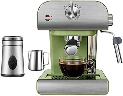 1yess Café bruht 20 bar 800 ml depósito de agua retro casa pequeña semiautomática de acero inoxidable espresso máquina con espumador de leche pared para restaurante cocina verde, D, C (tamaño: D)