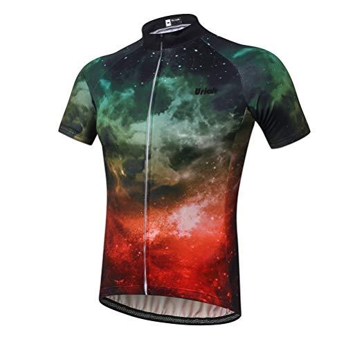 Uriah Men's Cycling Jersey Short Sleeve Bright Universe Size XXL(CN)