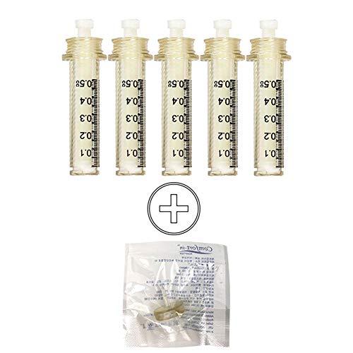 JJHZ 20 Ampullenkopf Für Hyaluron-Stift Hochdruck-Hyaluronsäure-Stift Metall Mit Hoher Dichte Für Anti-Falten-Lifting Lip Hyaluron-Pistole,0.5Ml