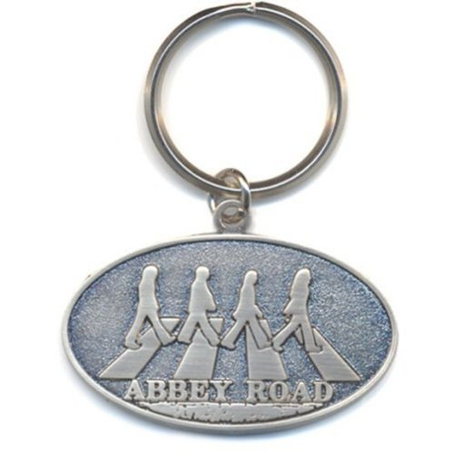 Beatles Abbey Road oval metal keyring (ro)
