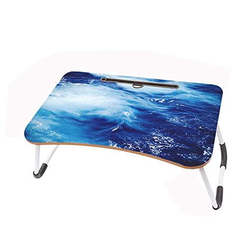 LYWUSUZE Laptop-Betttisch Tragbar Blaues Meer Auf Dem Bett Sofa Lese Tisch Tragbarer (60 x 40cm)