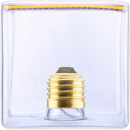 SEGULA Lámpara de filamento LED, diseño de cubitos de hielo, transparente, regulable, E27