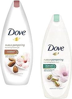 DOVE Almond + Pistachio Cream Body Wash 250ML-2Pcs QA26(2 x 250 ml)