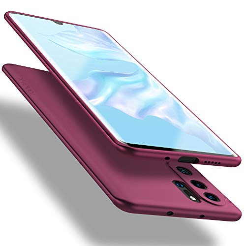 X-level Cover Huawei P30 PRO, Cover per Huawei P30 PRO New Edition, [Guardian Series] Ultra Sottile e Morbido TPU Protettiva Custodia Silicone Rubber Protezione Cover per Huawei P30 PRO, Vino Rosso