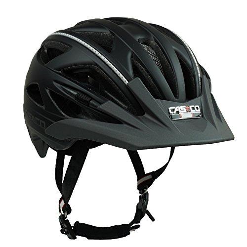 Fahrradhelm Casco Activ 2, schwarz-anthrazit - Biese silber, Gr. M (56-58 cm)