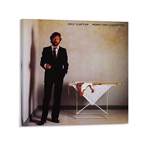 XYDQ Póster de Eric Clapton con diseño de dinero y cigarrillos, 60 x 60 cm