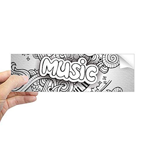 DIYthinker Viool Rock Muziek Winding Schilderij Rechthoek Bumper Sticker Notebook Window Decal