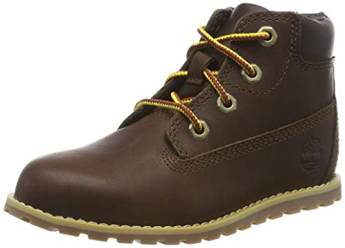 Timberland Unisex-Kinder Pokey Pine 6In Boot with Side Zip Klassische Stiefel, Braun (Dark Brown Full Grain), 28 EU