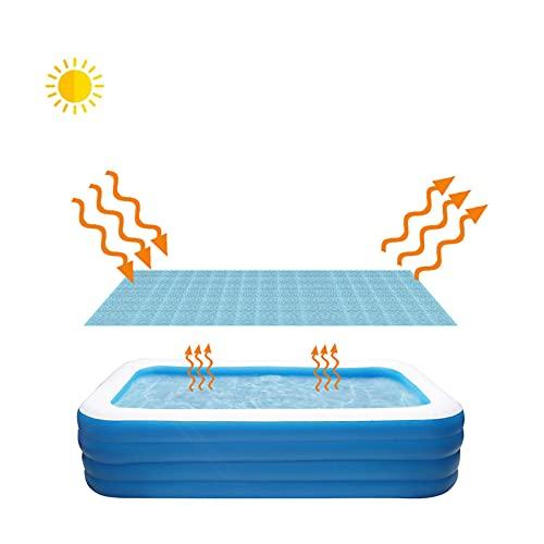 Solarplane Cover Pool Solarabdeckung Solarplane Solarfolie Eckig Pool Cover Poolabdeckplane PE Luftpolsterfolie Poolabdeckung Schwimmbadfolie Luftpolsterabdeckung Aufblasbar Pool (2X3m)