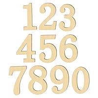 #N/A 10点 木製 番号 数字 0-9 ナンバー DIY工芸品 学習小道具 結婚式 パーティー 装飾 手作り インテリア オブジェ アートクラフト - 木材