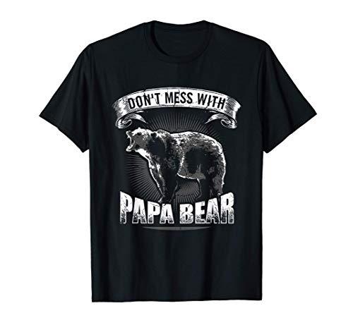 Herren Don\'t Mess With Papa Bear Shirt Bär Vater Camping Braunbär T-Shirt