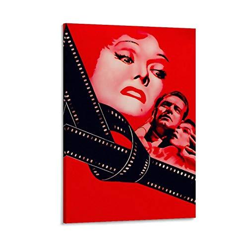 DSGFR Sunset Blvd - Póster de películas nostálgicas clásicas para pared, lienzo decorativo para sala de estar, dormitorio, 30 x 45 cm