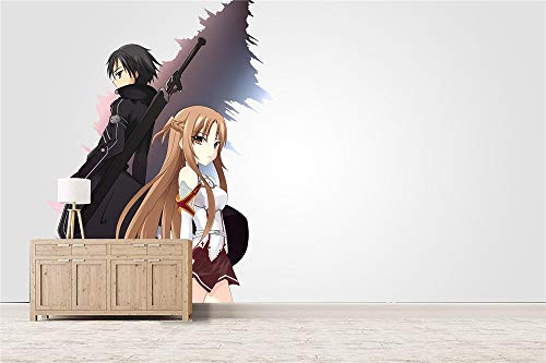 mural Anime Wallpapers Wall paintings Wall decoration, girl, man, boy bedroom wall sticker mural anime wallpaper SAO 330 x 140 cm (W x H)