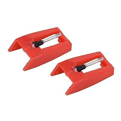 Stylineedle 2 PCS Record Player Needles, Diamond Tip Turntables Stylus for Crosley, Ion, Jensen, Bush and Teac