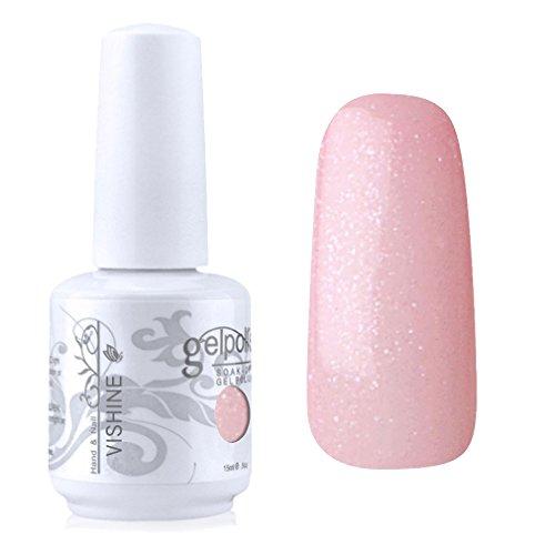 Vishine Vernis à ongles Semi-permanent Gel Polish UV LED Soak Off Manucure Rose nacré (1327)