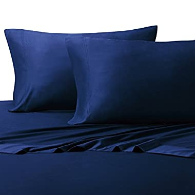 BAMBOO Duvet Cover 100% BAMBOO Viscose Comforter Cover - Duvet Cover Set with Corner Ties and Button Closer, King/Cal King size Royal Blue