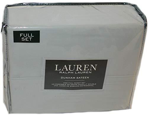 Ralph Lauren Dunham Silver Full Sheet Set New 1ST Quality Cotton