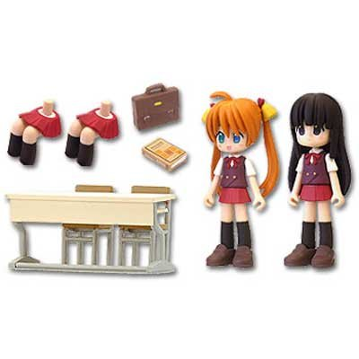 Negima! School Set A Kagurazaka Asuna and Konoka Konoe set PVC Figure (japan import)