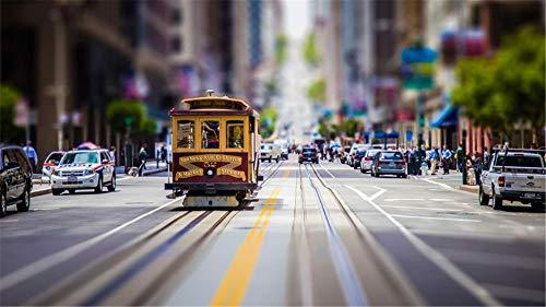 Para El Amigo Adulto De Los Niños 1000Piece San Francisco Vintage Tram Street Puzzle Diy