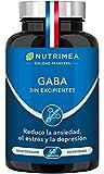 Gaba 750mg/día Relajante Natural   60 Cápsulas Veganas   Combate Estrés Insomnio y Ansiedad   Fabricado en Francia   Ayuda a Dormir Bien y a Relajarse   Acido Gamma Amino Butírico