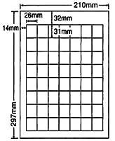 SCJ-36-2 OAラベル プリンタ用光沢タイプラベル (26×31mm 56面付け A4判) 2梱(カラーインクジェットプリンタ用光沢タイプラベル.フ...