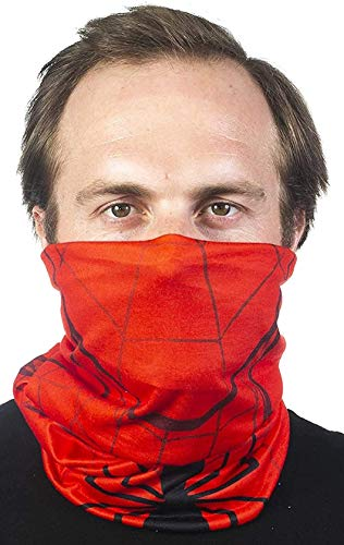 Concept One Marvel Spiderman Multi-Purpose Neck Gaiter Scarf Bandanas, Red, One Size