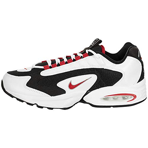 Nike Zapatillas de correr para hombre, blanco (negro, rojo, blanco (White/University Red-Black)), 36.5 EU