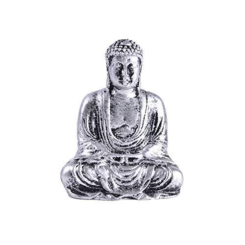 YJ Meditating Seated Resin Buddha Statue Figurine Zen Garden Accessories Desktop Decoration R002B