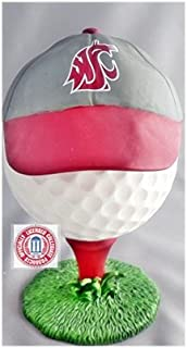 NCAA WASHINGTON STATE COUGARS GOLF BALL WITH HAT LID COIN HOLDER RIDGEWOOD COLLECTIBLES