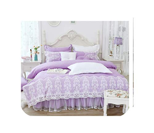 Read About TT Lemon Thick Cotton Winter Bed Cover Set Lace Princess Girls Bedding Set Twin Queen Kin...