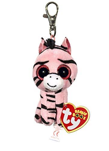 Carletto Ty 36615 Ty 36615-Zoey Clip Zebra mit Glitzeraugen Beanie Boo's, 8.5 cm, pink